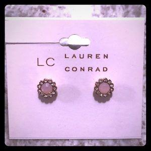 🆕 LC Lauren Conrad Pale Pink Stud Earrings
